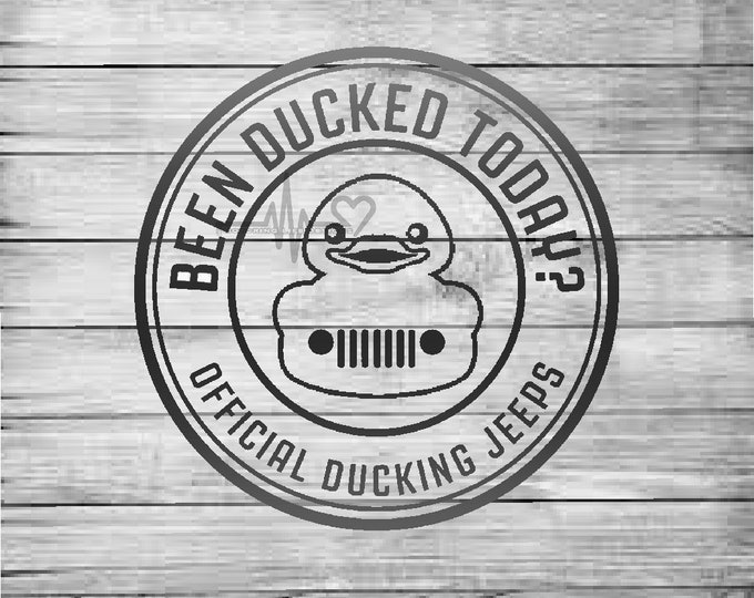 Official Ducking Jeep vinyl decal