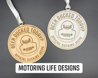 Official Ducking Jeep wood ornament