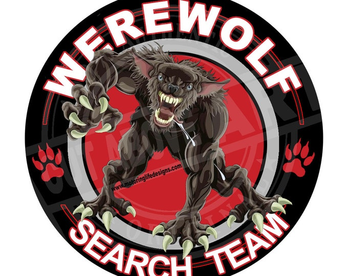 """Werewolf Search Team 3"""" magnetic badge"""
