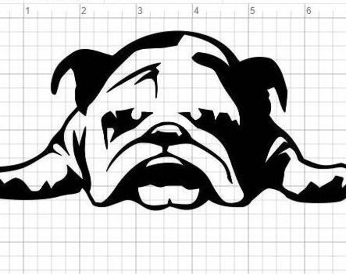 Bulldog vinyl decal