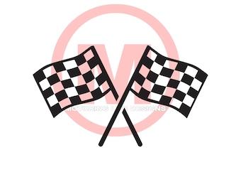 Checkered Flag vinyl decal