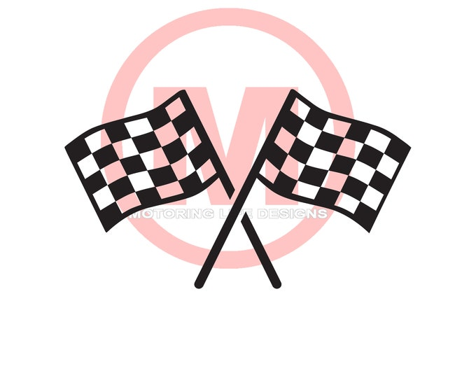 Checkered Flag vinyl decal