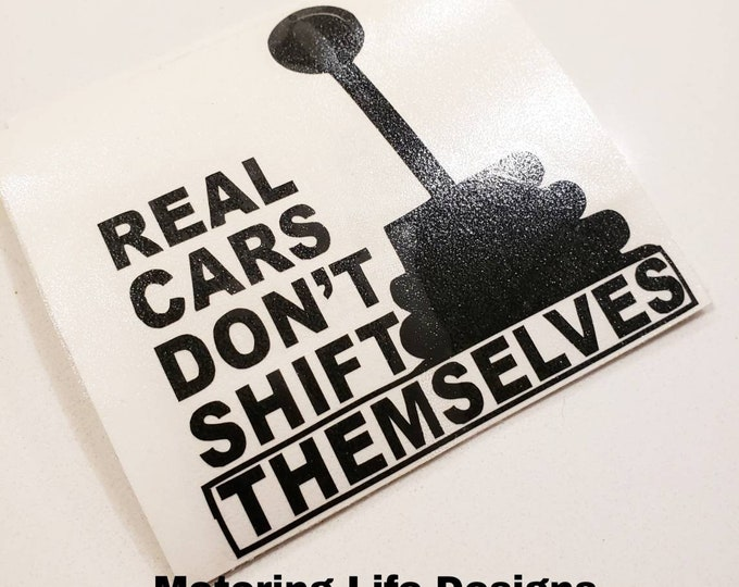 Real Cars vinyl decal
