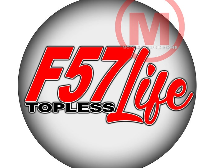 """Grill Badge- F57 Life 'Topless' 3"""" magnetic grill badge"""