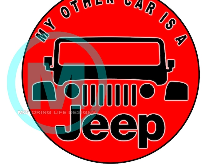"""Grill Badge- My Other Car is A JEEP 3"""" magnetic grill badge"""