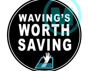 Stickers- Save the Wave Vinyl Sticker
