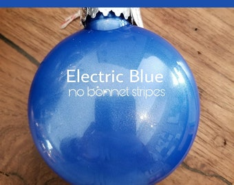 Bonnet ornament- Electric Blue
