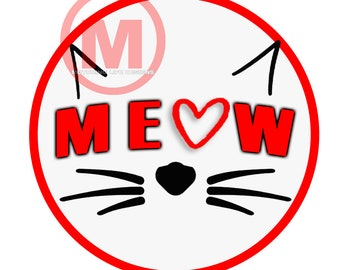 """Grill Badge- MEOW  3"""" magnetic grill badge"""