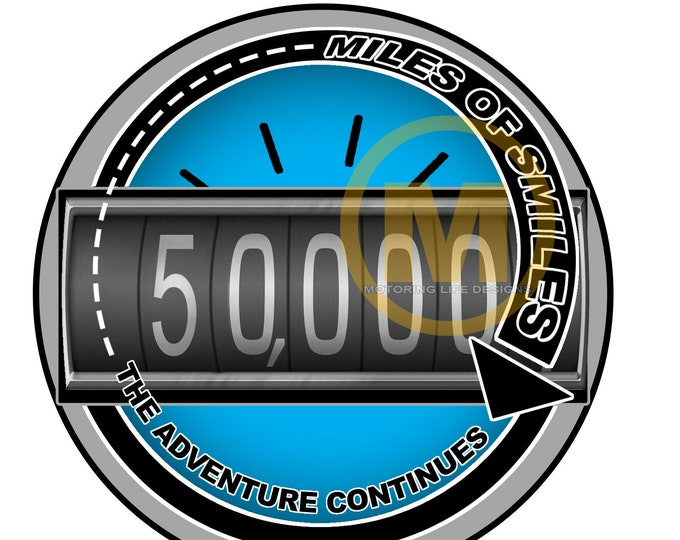 "MILES OF SMILES- 50K  3"" magnetic badge"