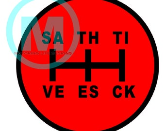 "SAVE THE SHIFT Pattern 3"" magnetic badge"