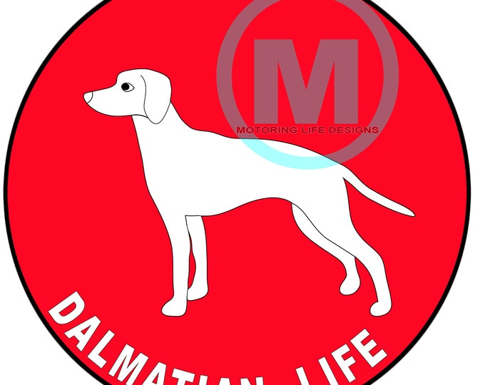 """Grill Badge- Color you SPOT, Dalmatian 3"""" magnetic grill badge"""