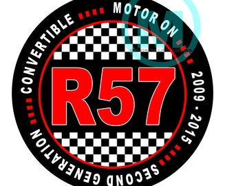 """Grill Badge- R57 Convertible 3"""" magnetic grill badge"""