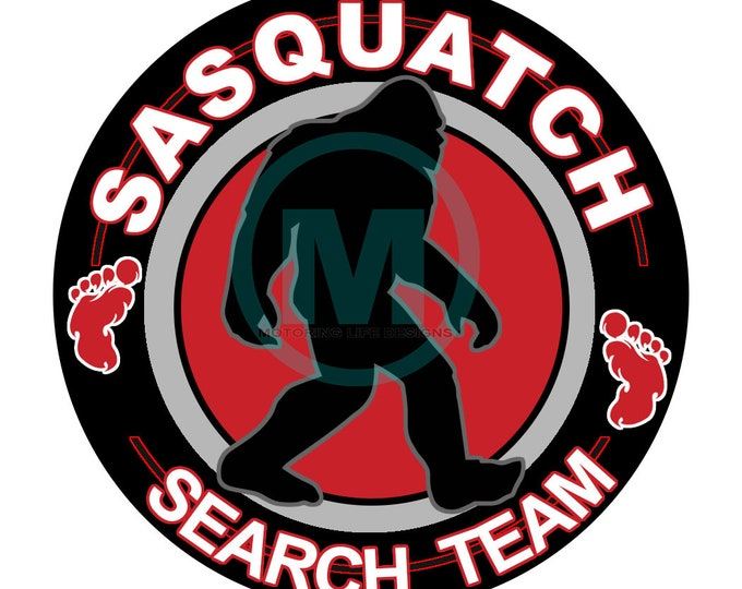 "Grill Badge- Sasquatch Search Team 3"" magnetic grill badge"