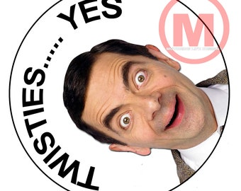 "Grill Badge- Mr Bean 3"" magnetic grill badge"