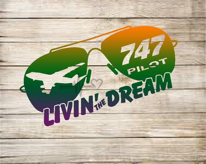 K4 PILOT 'Livin The Dream' vinyl decal