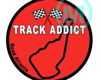 "Stickers- Road Atlanta Track Addict 3"" vinyl sticker"