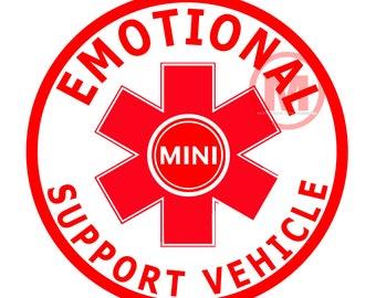 Emotional Support Vehicle-  vinyl sticker