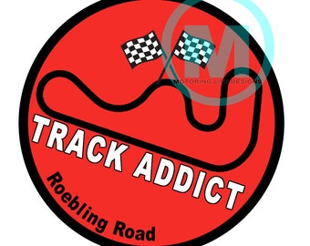 "Stickers- Roebling Road Track Addict 3"" magnetic grill badge"