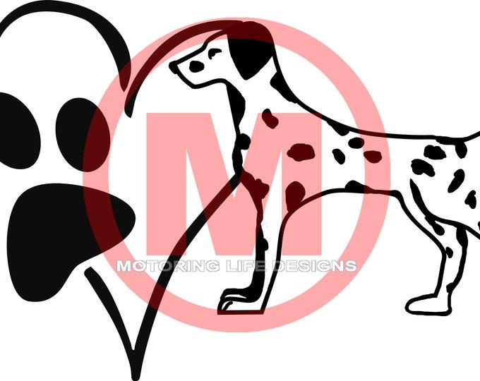 Dalmatian Love vinyl decal