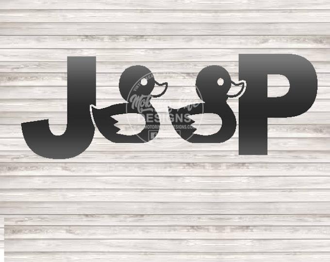Jeep Duck Duck vinyl decal