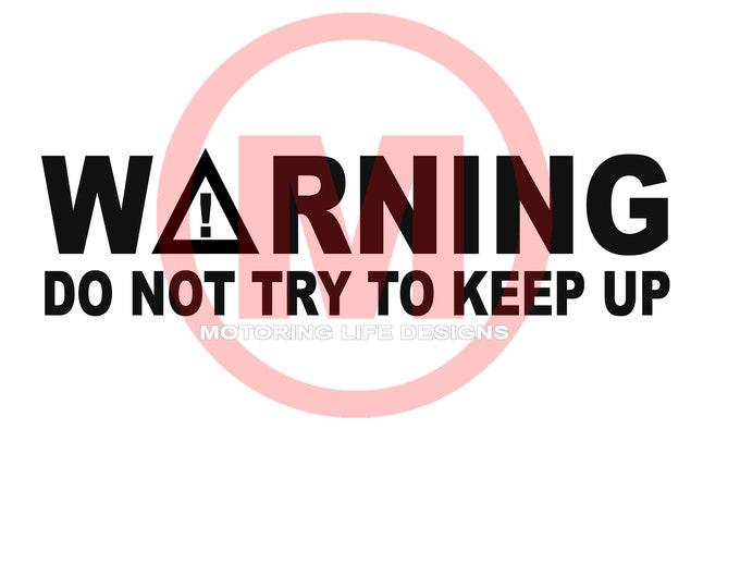 WARNING vinyl decal