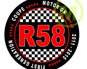 """R58 COUPE 3"""" magnetic badge"""