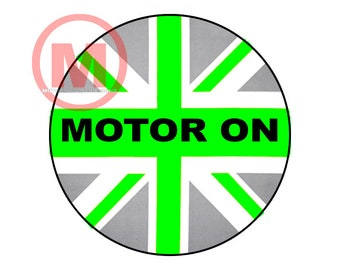"""Grill Badge- Motor ON 3"""" magnetic grill badge"""