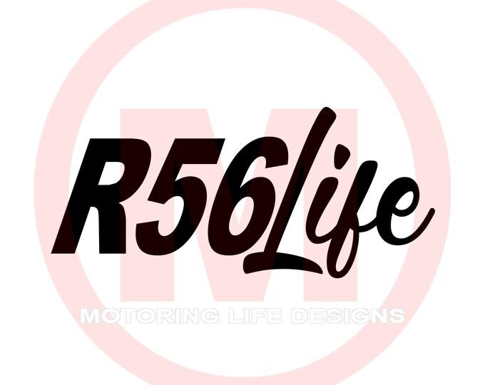 R56 LIFE vinyl decal