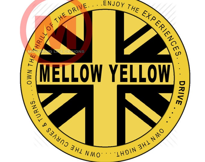 "Mellow Yellow Club  3"" magnetic badge"