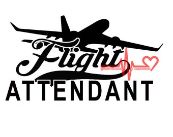 Flight Attendant vinyl decal
