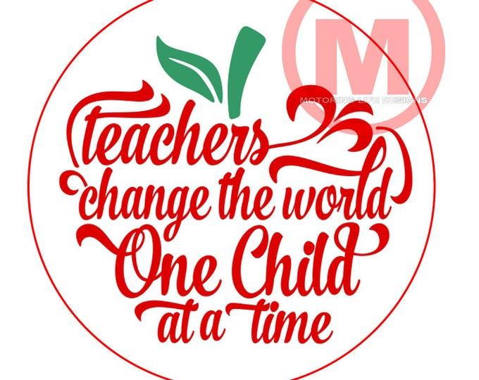 """Teacher Apple - 3"""" magnetic badge"""