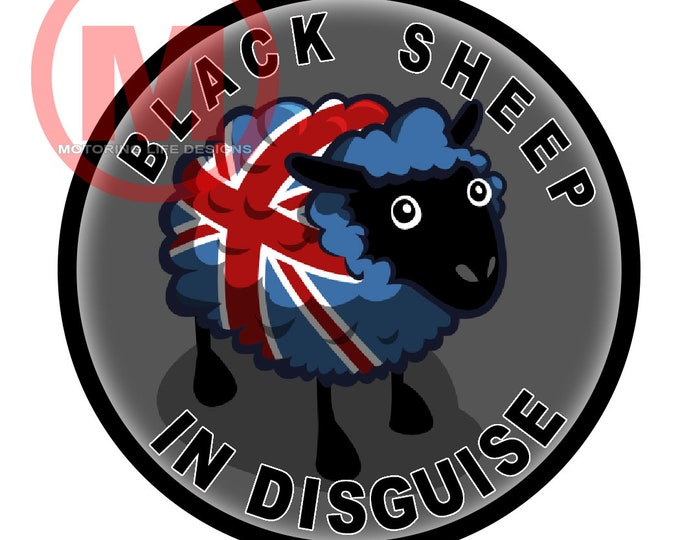 "Grill Badge- Black Sheep In Disguise 3"" magnetic grill badge"