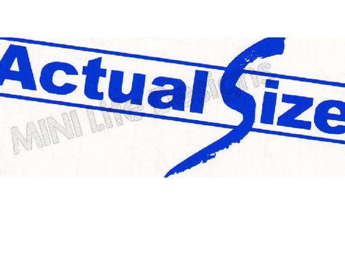 Actual Size vinyl decal