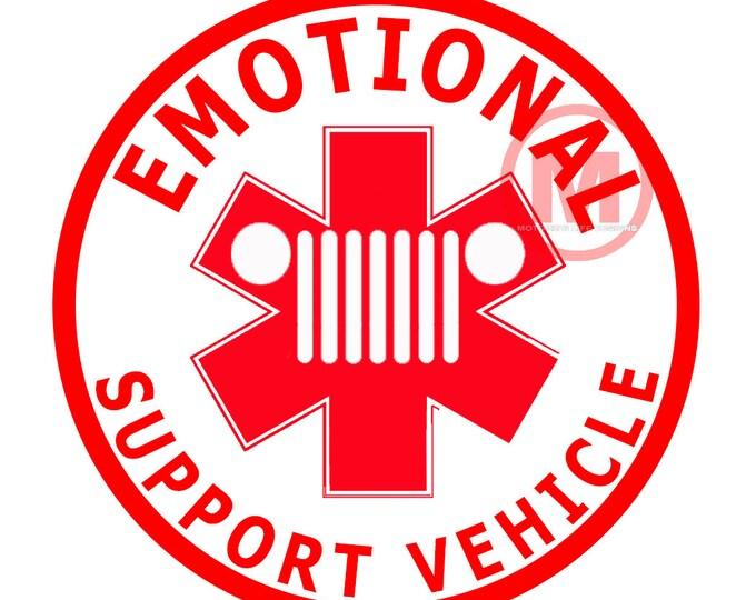 Emotional Support Vehicle vinyl sticker