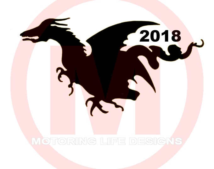 Motor On The Dragon 2018 vinyl decal