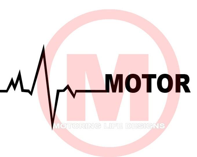 Motor On Heartbeat vinyl decal