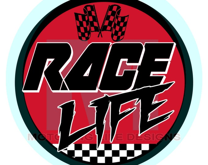 """Grill Badge- RACE Life 3"""" magnetic grill badge"""