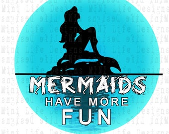 "Grill Badge- MERMAIDS Have More Fun 3"" magnetic grill badge"