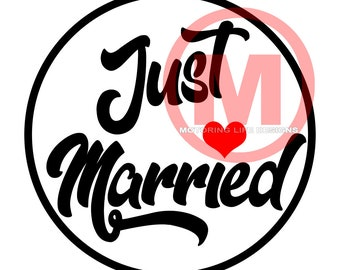 "Grill Badge- Just Married Rule 3"" magnetic grill badge"