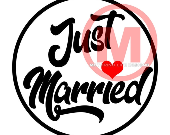 """Grill Badge- Just Married Rule 3"""" magnetic grill badge"""