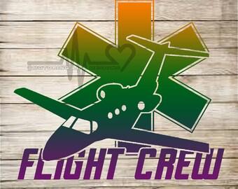 Flight Crew Fixed wing medic vinyl decal