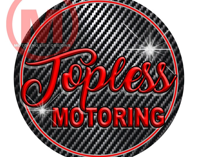 "Grill Badge- TOPLESS MOTORING 3"" magnetic grill badge"