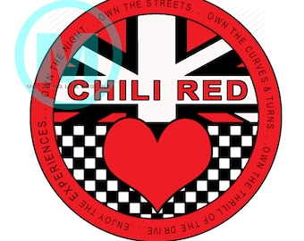 """Chili Red Club  3"""" magnetic badge"""