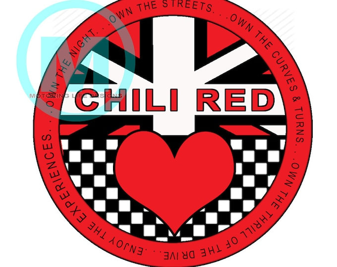"""Grill Badge- Chili Red Club  3"""" magnetic grill badge"""