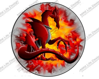 "Dragon Fire 3"" magnetic badge"