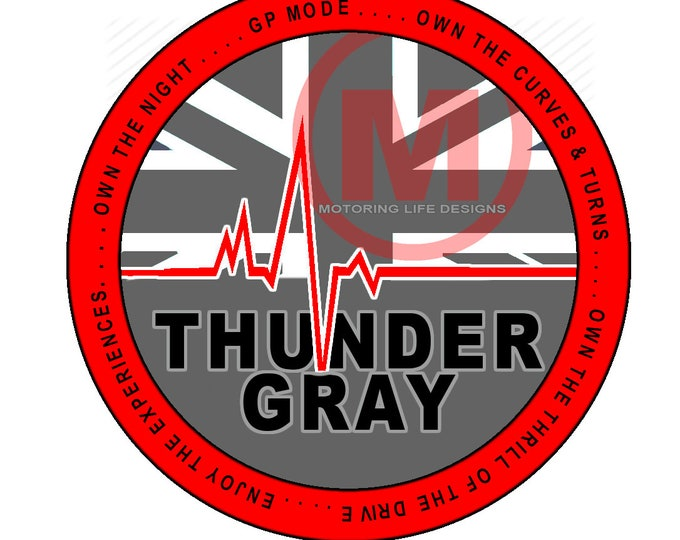 """Grill Badge- Thunder Gray Club  3"""" magnetic grill badge"""