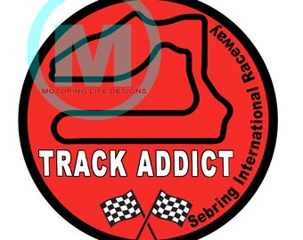 Stickers- Sebring International Raceway Track Addict