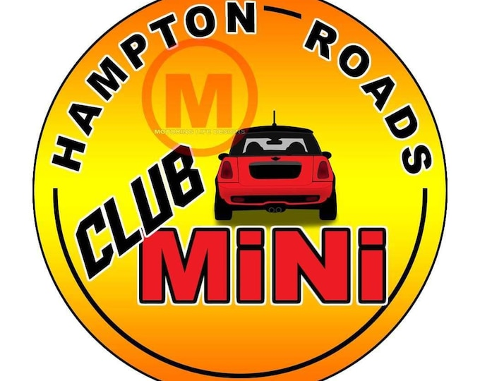 Grill Badge- Hampton Roads MINI Club badge