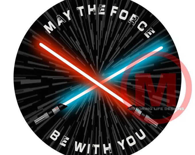 "Grill Badge- May The Force Be With YOU 3"" magnetic grill badge"