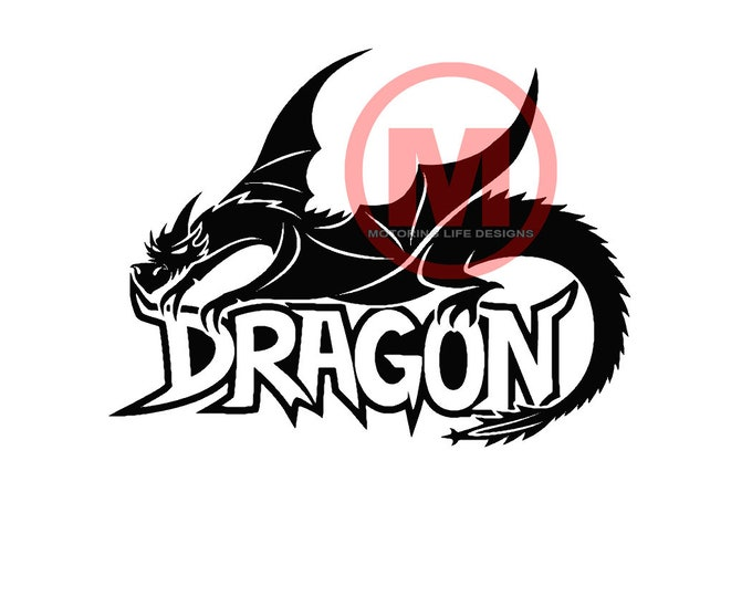 Dragon 2 vinyl decal
